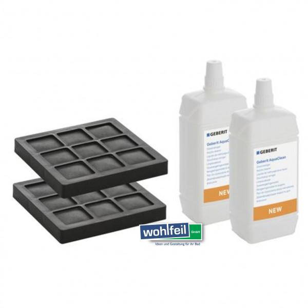 Geberit Set Aktivkohlefilter und AquaClean Düsenreiniger für AquaClean Komplettanlage