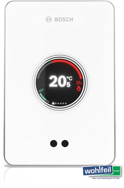 BOSCH smarter W-LAN Regler EasyControl Touch-Screen, App Anbindung, weiß CT200