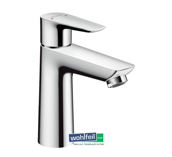 Hansgrohe Einhand-Waschtischbatterie Talis E 110 mit Ablaufgarnitur Push-Open, chrom