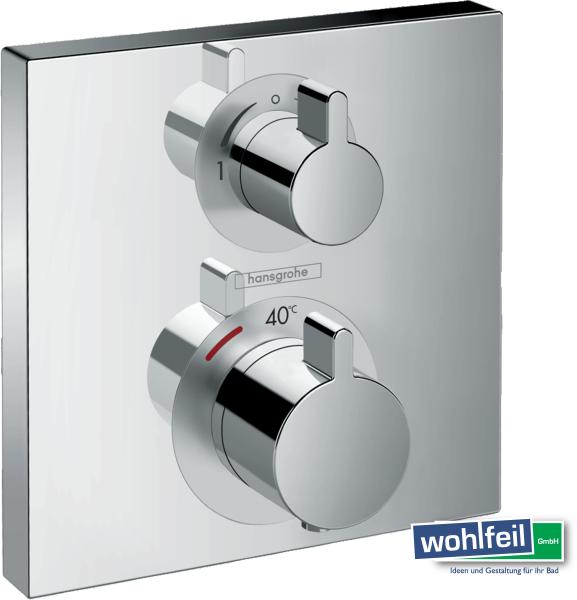 Hansgrohe Ecostat Square Thermostat Unterputz für 2 Verbraucher, chrom