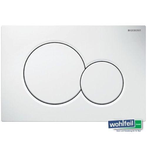 Geberit Sigma01 Betätigungsplatte für 2-Mengen-Spülung weiß