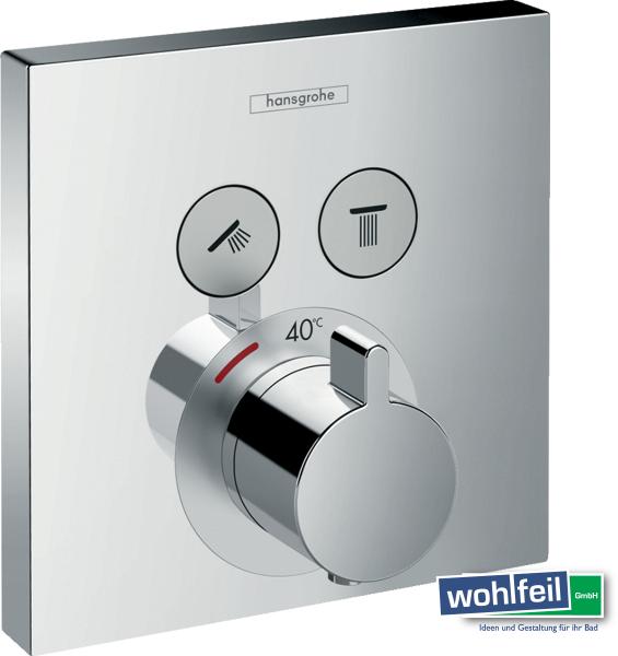 Hansgrohe ShowerSelect Thermostat Unterputz für 2 Verbraucher, chrom
