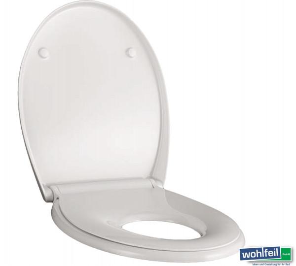 Geberit Renova WC-Sitz mit Sitzring für Kinder mit Absenkautomatik, weiß