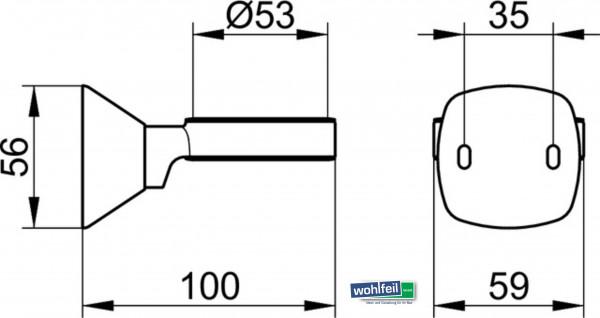 Keuco Universalhalter City2 - Maße