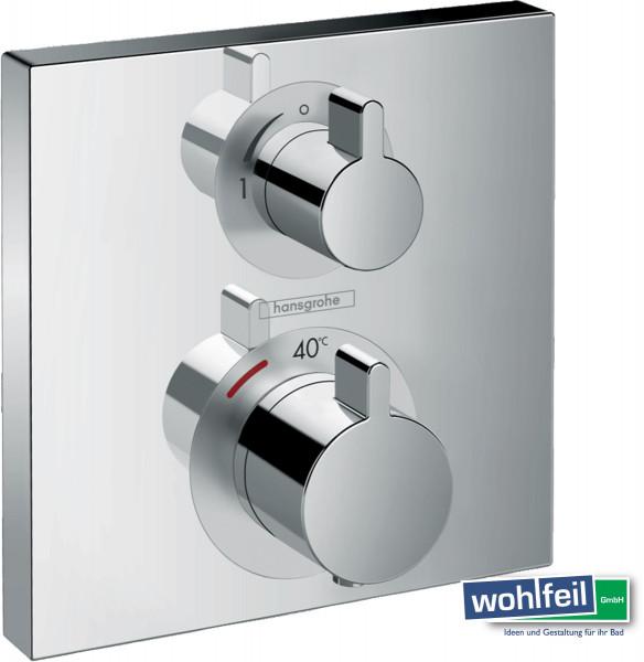 Hansgrohe Ecostat Square Thermostat Unterputz für 1 Verbraucher, chrom