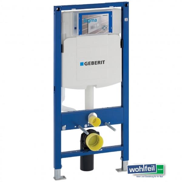 Geberit Duofix für Wand WC - Bauhöhe 112 cm - Betätigung von vorne