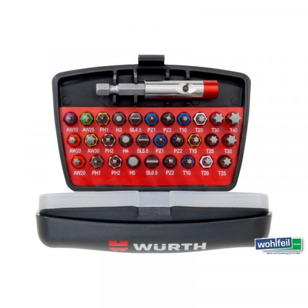 Würth Bit-Box 31-teilig Bithalter magnetisch