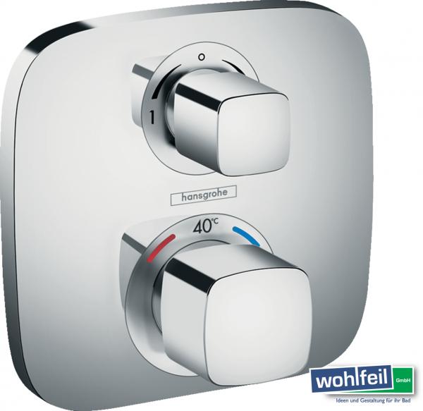 Hansgrohe Ecostat E Thermostat Unterputz für 2 Verbraucher, chrom