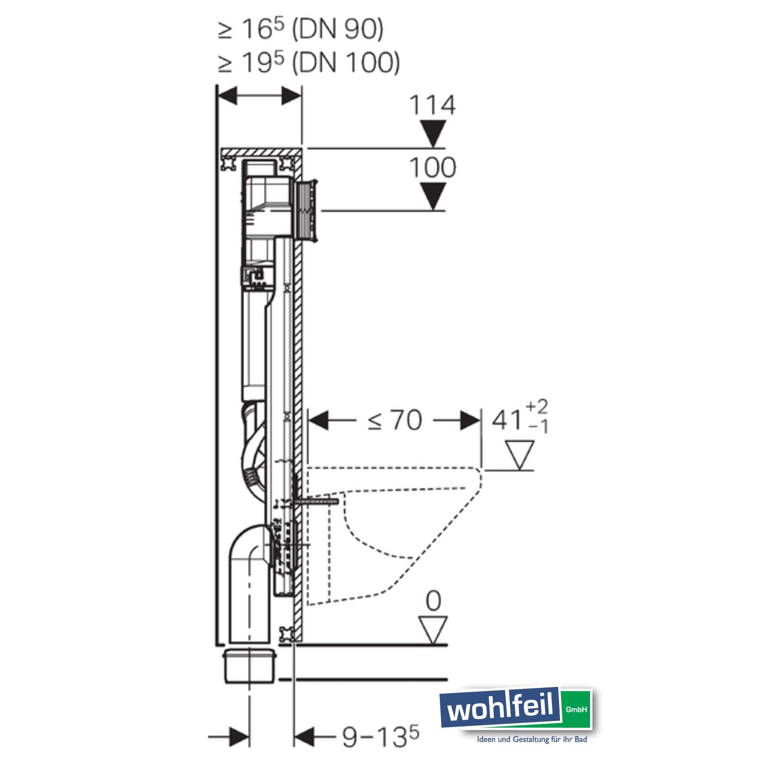 Geberit GIS Element für Wand-WC Geruchsabsaugung Umluft