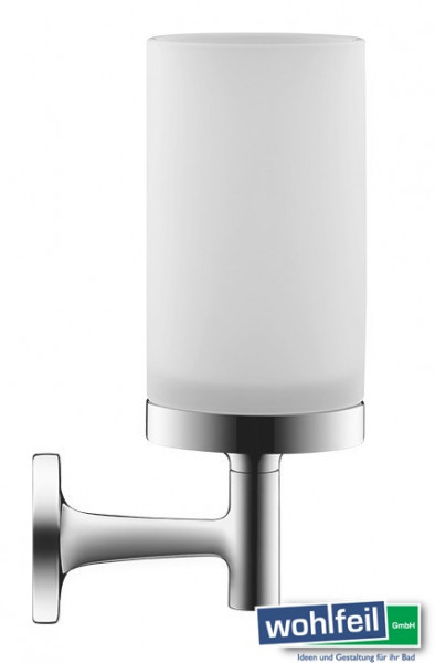 Duravit Glashalter Starck T Chrom inkl. Glas, weiß matt