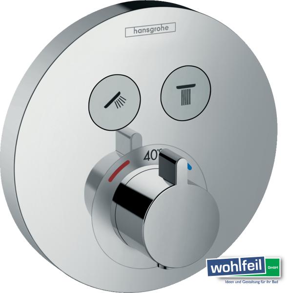 Hansgrohe ShowerSelect S Thermostat Unterputz für 2 Verbraucher, chrom